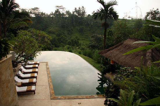 Komaneka at Tanggayuda: infinity edge main pool