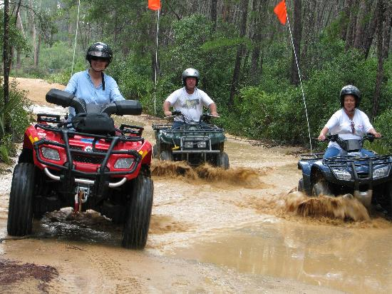 ATV Off-Road Adventure Tours: Great Fun in the Ocala National forest riding 4-Wheelers with friends