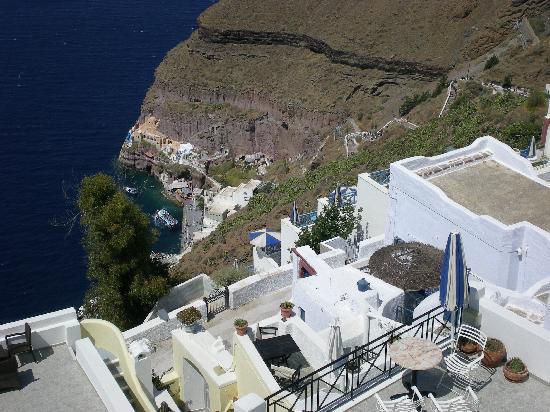 Villa Renos: Vue de la terrasse