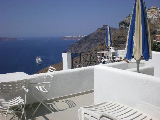 Villa Renos: Notre balcon