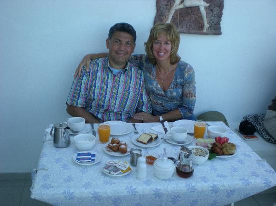 Villa Renos: Notre déjeuner
