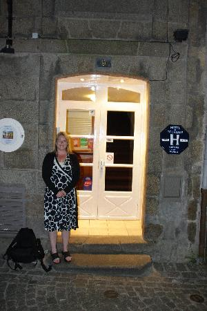 Hôtel Le Nautilus: Debbie outside the Nautilus hotel.