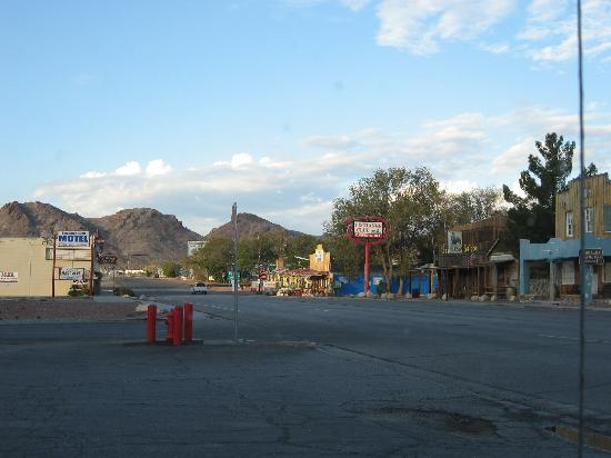 Beatty NV from Rebel Gas station up from Motel 6
