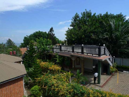 Entebbe, Uganda: ホテルの中庭