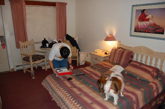 Sun God Lodge: Inside decor of the room.