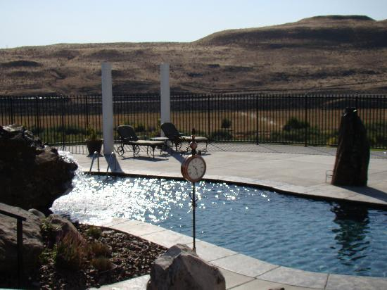 Cameo Heights Mansion Bed & Breakfast: Pool in the morning sun