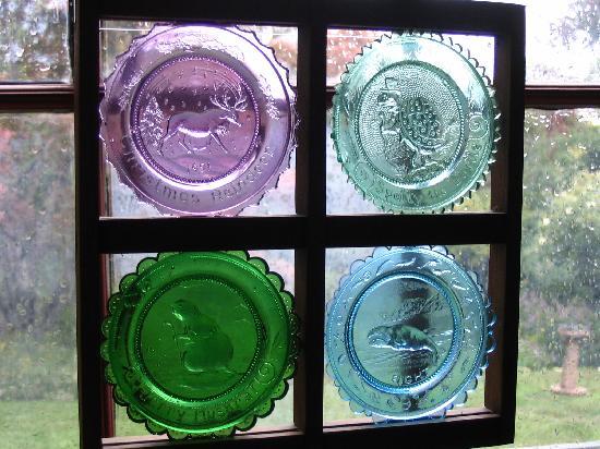 Green Briar Nature Center and Jam Kitchen: View through Sanwich Glass