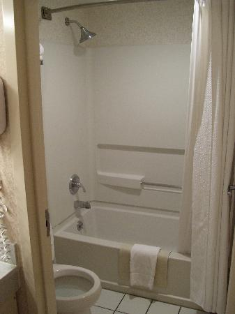 Holiday Inn Express Newport News: The very tiny bathroom which we could hardly get into