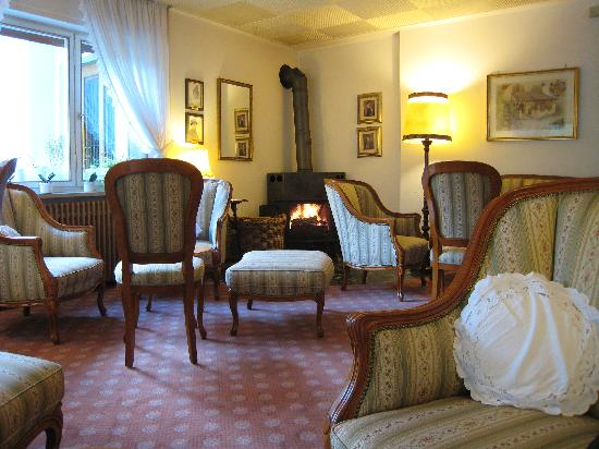 NaturResidence Dolomitenhof: Fireplace in the common room