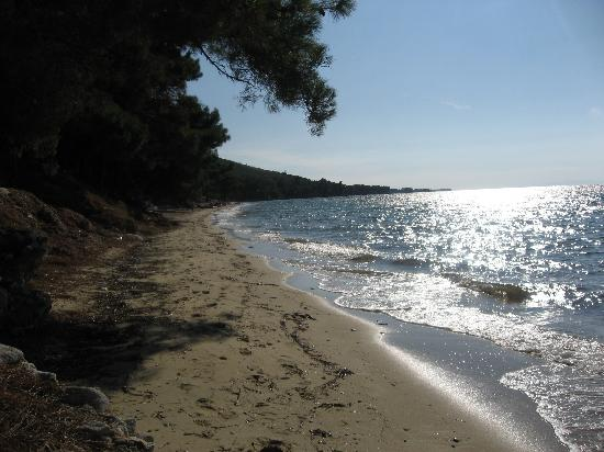 "Pachis, Grecja: ""Fun size"" beach at end of road"
