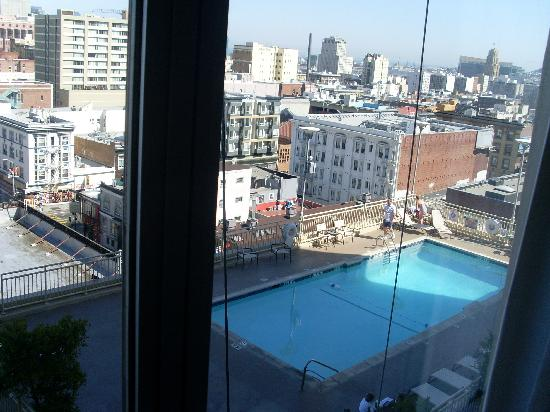 view of the pool from our room picture of holiday inn. Black Bedroom Furniture Sets. Home Design Ideas