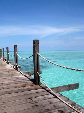 Pulau Sipadan, Malesia: Walking to our room.