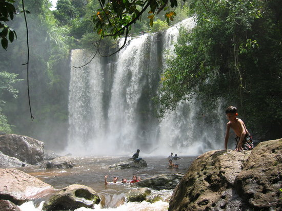 Siem Reap Province, Καμπότζη: Waterfalls Phnom Kulen