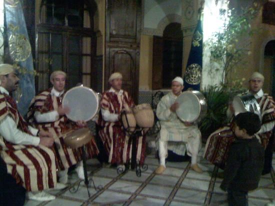 Riad Palais Didi: This is a band of typical Moroccan that was playing at PALAIS DIDI