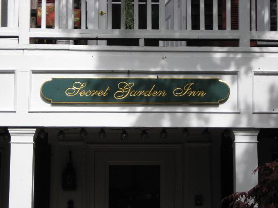 The Secret Garden Inn sign