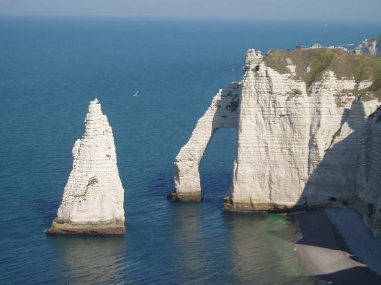 Etretat, Fransa: l'aiguille percée
