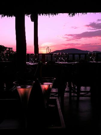 Onsea House Country Inn & Guest Cottage: sunset view from dining terrace