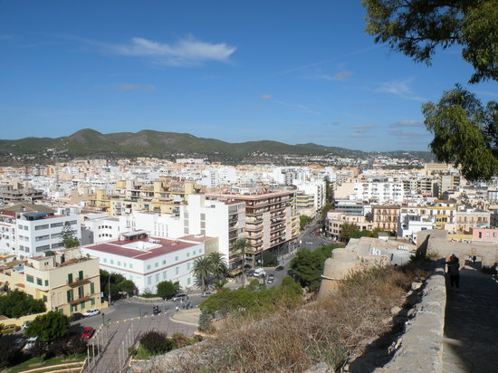 Ibiza-stad, Spanje: Panoramic view