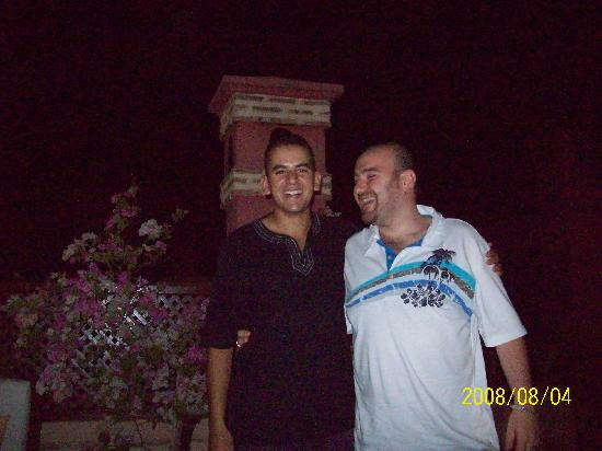Riad Zolah: Myself and Omar at the Riad