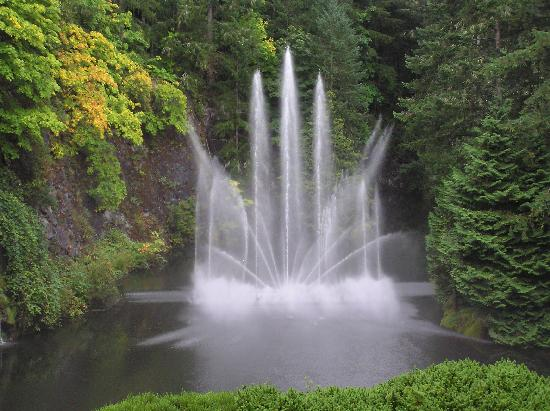 The Butchart Gardens: Quarry Fountain