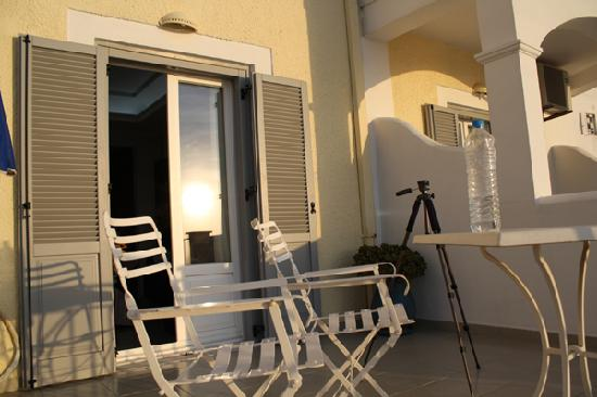 Villa Renos: Our balcony
