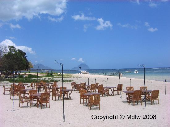 Vue sur la terrasse (plage)