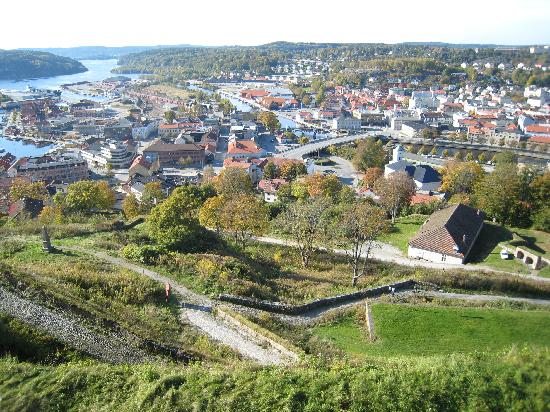 Halden centre seen from the fortress