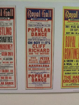 Old poster in the Royal Hall theatre