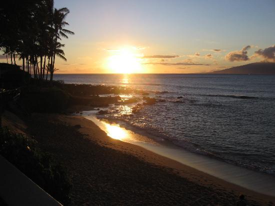The Napili Bay: Sunset from unit #208 Napili Bay