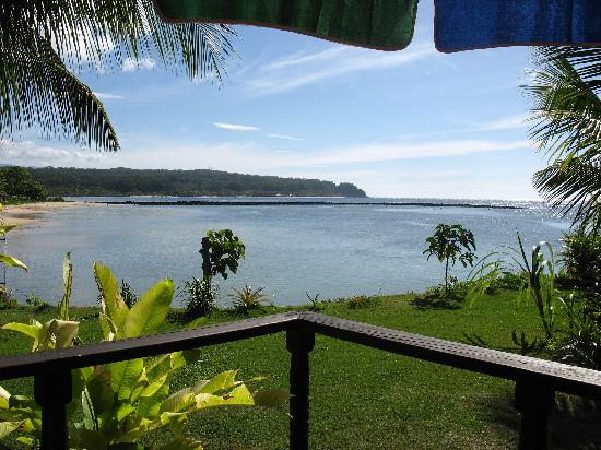 Le Lagoto Resort & Spa: Balcony View west