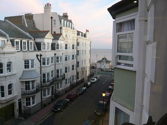 Brightonwave: View towards the sea from our luxury kingsize room