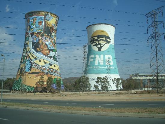 soweto の 発電所。白人のための