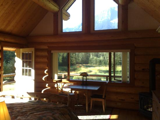 Tweedsmuir Park Lodge: View from the cabin