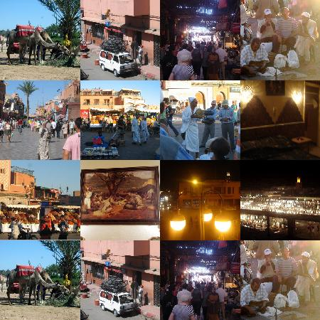 Grand Hotel Tazi: mixed collage of morocco