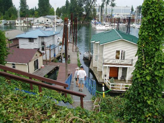 Rebecca House and Bungalow Bed and Breakfast : Houseboats in the marina across the street