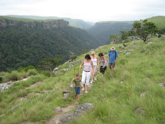 KwaZoeloe-Natal, Zuid-Afrika: Hiking in the Umtamvuna Nature Reserve Beacon Hill Entrance
