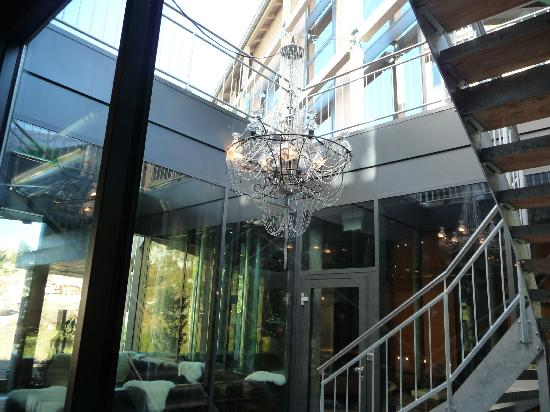 Matterhorn Focus - Design Hotel: Outside Chandelier from Inside Hotel