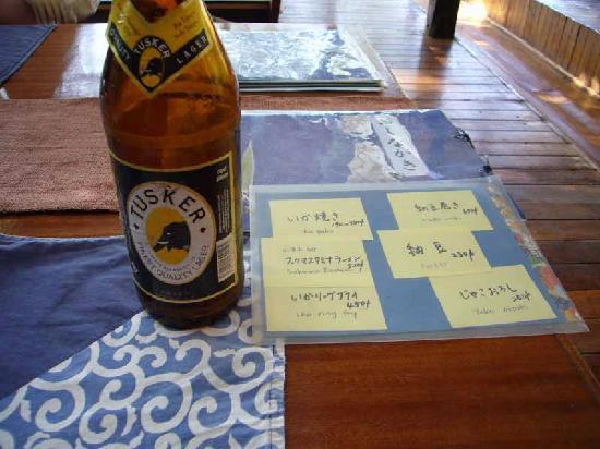 Nairobi Nihonjin Club: いかにも日本チックなメニュー