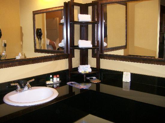 Baymont Inn & Suites Celebration: The super big vanity.