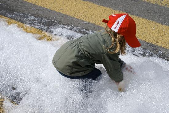 Schaffhausen, Szwajcaria: Von wegen Schnee - das ist ja Schaum!
