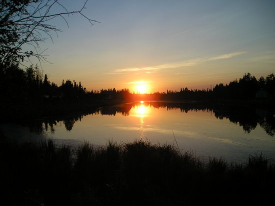 Alaska: Sunset over lake!