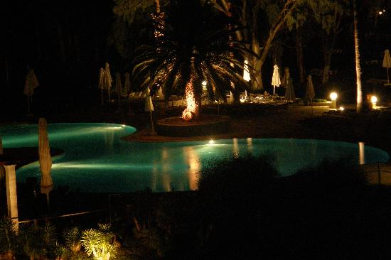 Family Life Kerkyra Golf: view from our room at night