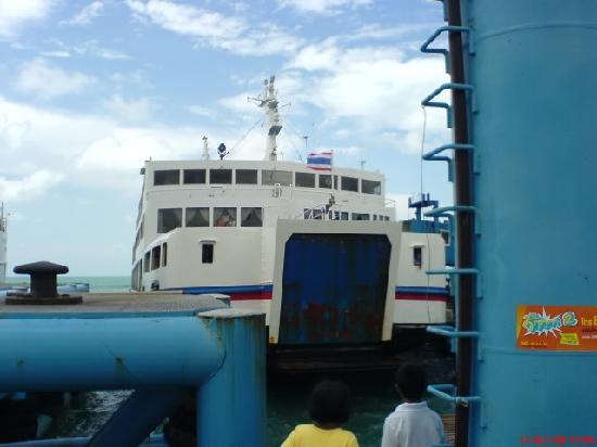 Samui Garden Home: This boat transfer Donsak Samui