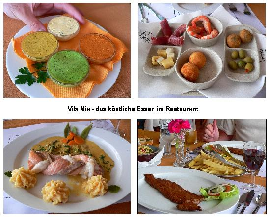 فيلا ميا: Vila Mia - das köstliche Essen im Restaurant