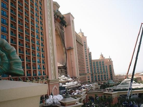 Atlantis, The Palm: working on the fire damage