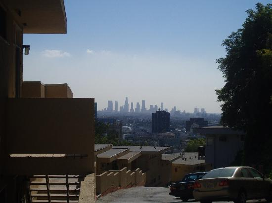 Hollywood Hills Hotel View Of Downtown La From Apartments