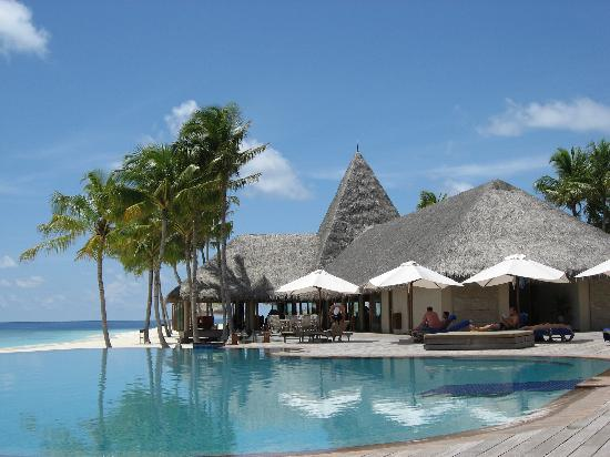 Veligandu Island Resort & Spa: Pool area and bar