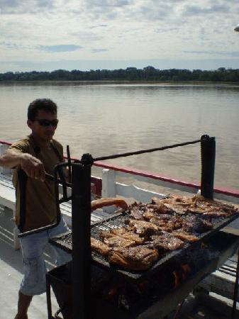 Amazon River, AM: boat bbq