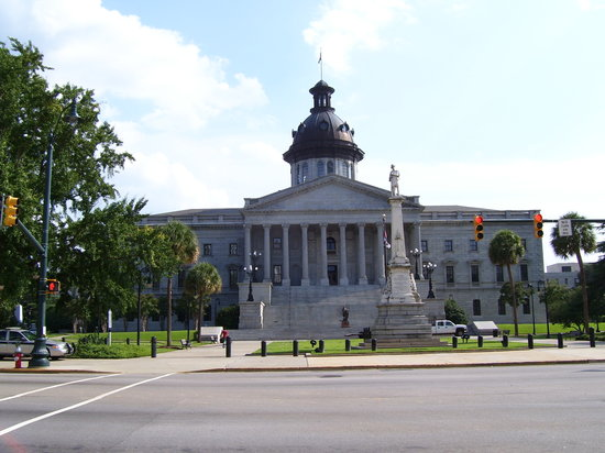 Columbia, Güney Carolina: South Carolina State House from Gervais Street