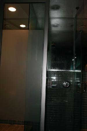 Drake Hotel Toronto: The shower.  It's entirely see through (so don't share with anyone you don't want to see naked)
